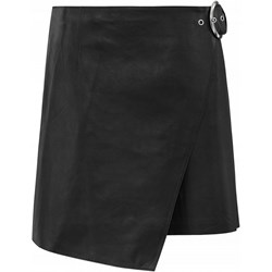 2e16b8886f Czarna spódnica Ochnik bez wzorów skórzana