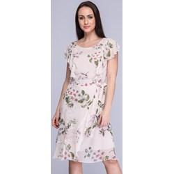08b540a06b Wielokolorowa sukienka Semper z krótkim rękawem na wiosnę