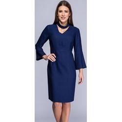 d142a1727b Sukienka Semper midi z wiskozy z długim rękawem na bal