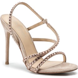 6321d540 Sandały damskie Eva Minge eleganckie bez zapięcia na szpilce bez wzorów