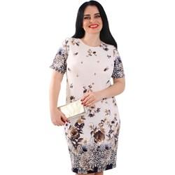 c95bed0797 Sukienka wielokolorowa Lamar z okrągłym dekoltem