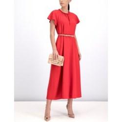 1fccf9b42c Sukienka Red Valentino na sylwestra casual midi trapezowa