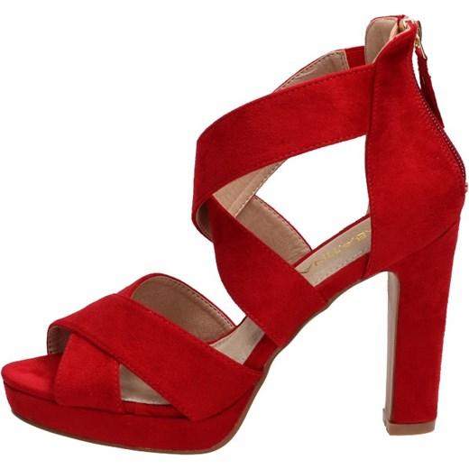 Sabatina sandały damskie na obcasie eleganckie Buty Damskie JI czerwony Sandały damskie XEXE