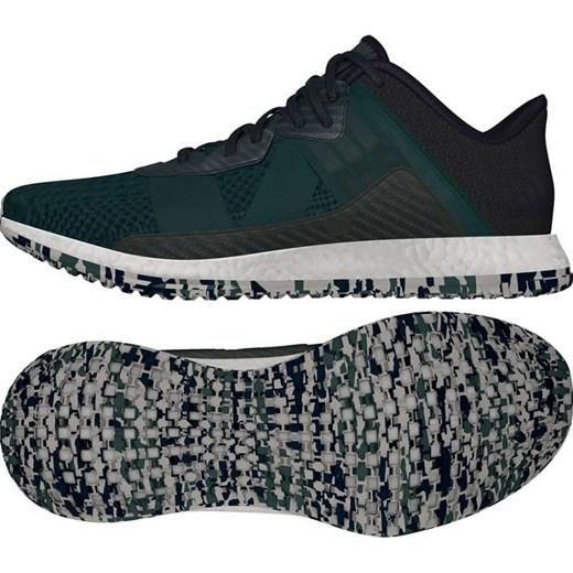 Zielone buty sportowe m?skie Adidas ze skry
