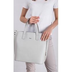 22642a73c45d4 Shopper bag biała Rovicky bez dodatków elegancka matowa