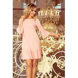 64834b7f40 Różowa sukienka Numoco elegancka luźna mini