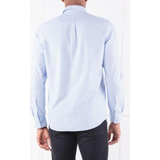 b25c05f9fb975 ... Koszula męska Hugo Boss z długim rękawem bez wzorów z klasycznym  kołnierzykiem ...
