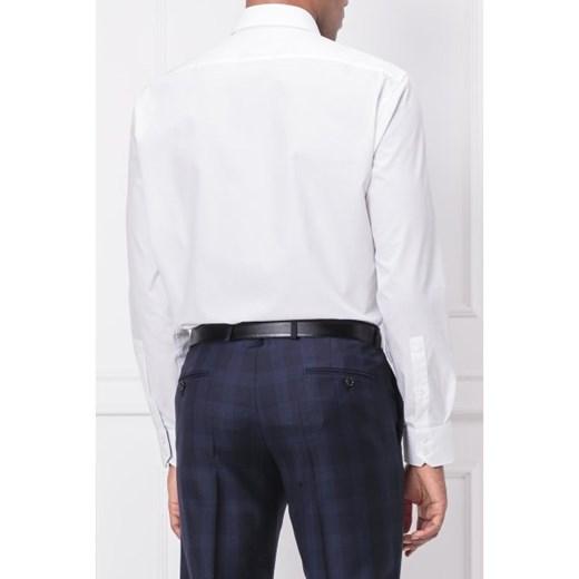 af42675fd4521 ... klasycznym kołnierzykiem bez wzorów z długim rękawem elegancka; Koszula  męska Hugo Boss bez wzorów biała z długim rękawem ...