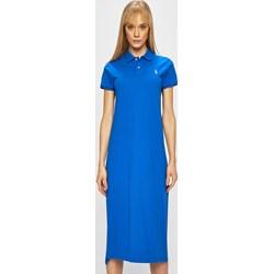 caab303042 Sukienka Polo Ralph Lauren maxi do pracy z krótkimi rękawami