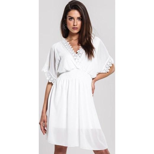 74e9a8739 Biała Sukienka Remark Renee S/M Renee odzież ...