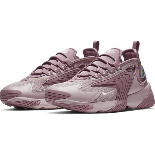 b7a0e1ea Buty sportowe damskie Nike sneakersy młodzieżowe zoom różowe na płaskiej  podeszwie