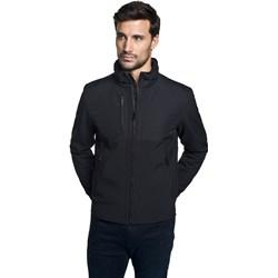 62ec3fd3eac27 Czarna kurtka męska Recman na jesień bez wzorów