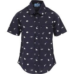 cde1b56116a67 Granatowe koszule chłopięce, lato 2019 w Domodi