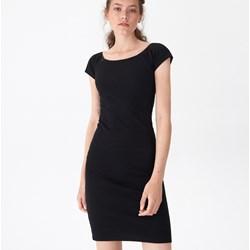 9877306b9b Sukienka House dopasowana czarna z okrągłym dekoltem