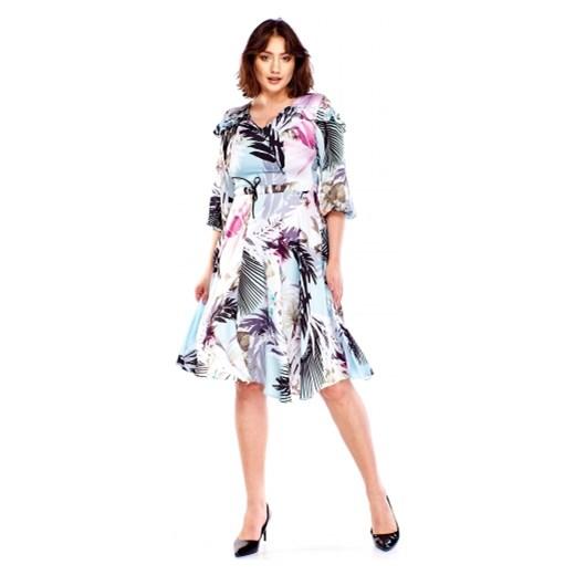 33724c4648 ... długim rękawem casual  Wzorzysta sukienka Stylove 2 ptakmoda.com ...