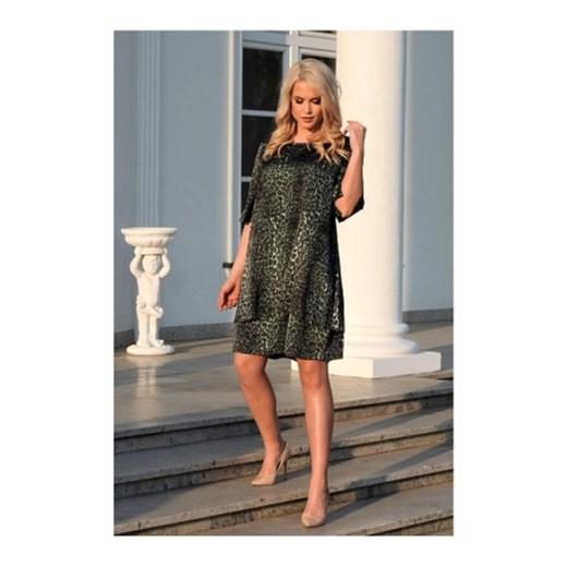 90d3c8e47d Sukienka Roxana casual z okrągłym dekoltem w Domodi