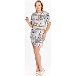 12f5629183 Sukienka Karla Fashion oversize casual z krótkimi rękawami luźna z okrągłym  dekoltem