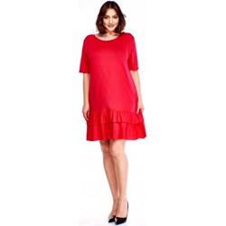 2bb70ecdf1 Sukienka Bomo Moda bez wzorów z krótkimi rękawami z okrągłym dekoltem