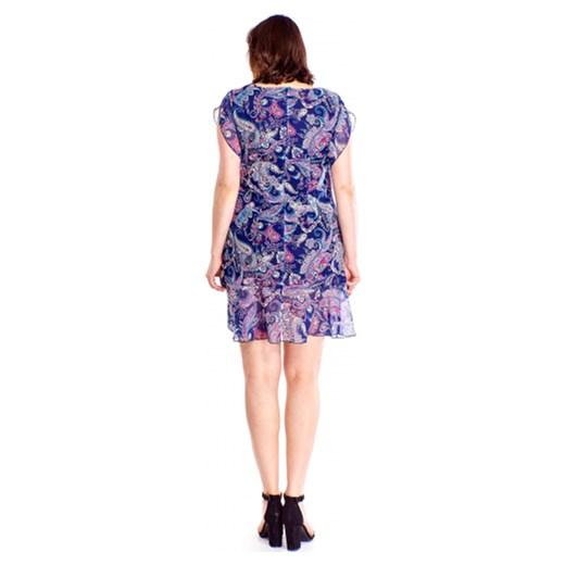 e2c9e7d501 Sukienka Milano Moda z okrągłym dekoltem tkaninowa prosta w Domodi
