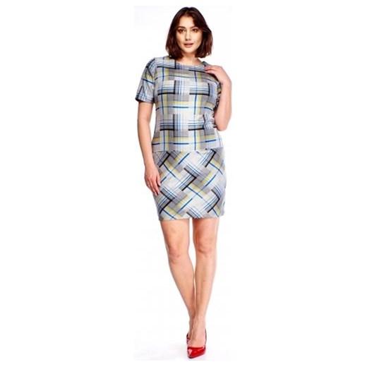 29ceccf2ca Sukienka Roxana casual z krótkim rękawem z okrągłym dekoltem w Domodi