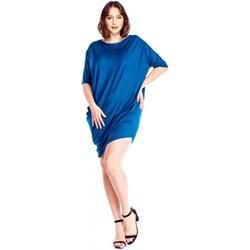fa8b336c67 Sukienka Bomo Moda z okrągłym dekoltem z krótkim rękawem