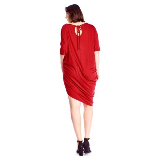 1ea4a47eeb ... Sukienka Bomo Moda na randkę z okrągłym dekoltem casual asymetryczna