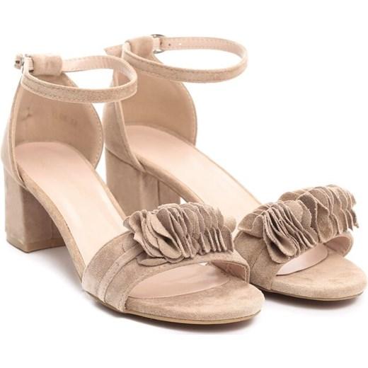 58e472355237d Renee sandały damskie bez wzorów beżowe na lato w Domodi