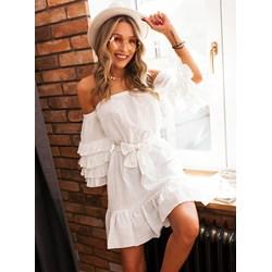 81e98726eb Sukienka Selfieroom casualowa mini z długim rękawem bez wzorów