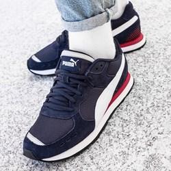 787622920cc283 Granatowe buty sportowe damskie Puma do fitnessu wiązane