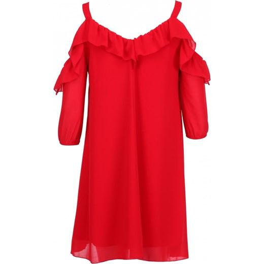 99a81d01e3 Sukienka Vissavi midi z długimi rękawami oversize z szyfonu luźna  Sukienka  STELLA Vissavi 42 ...