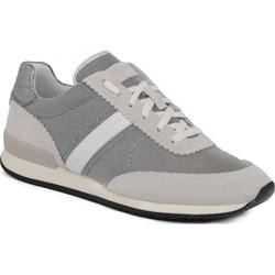 583df326f39fa Buty sportowe damskie Hugo Boss sneakersy w stylu młodzieżowym skórzane  wiązane bez wzorów
