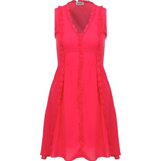 5696c62bdd Sukienka Liu jo elegancka czerwona bez rękawów midi w Domodi
