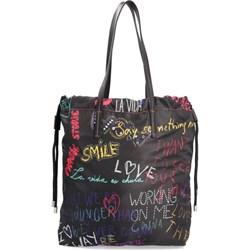 8c3c76e052e94 Shopper bag Desigual duża na wakacje na ramię bez dodatków