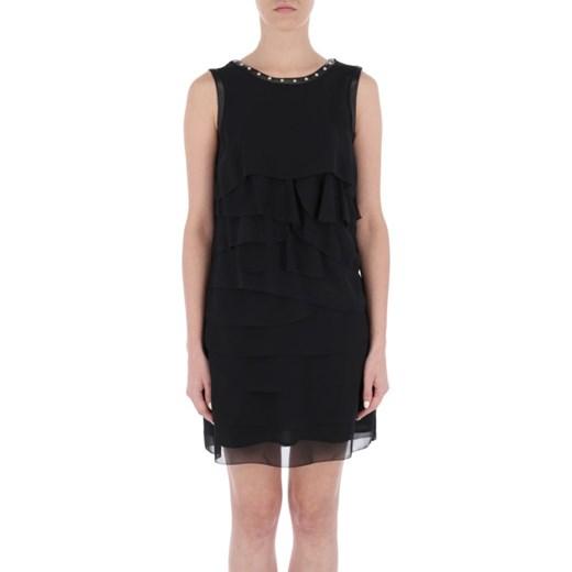 bc4d4d0035 Sukienka Liu jo z okrągłym dekoltem bez wzorów czarna prosta w Domodi