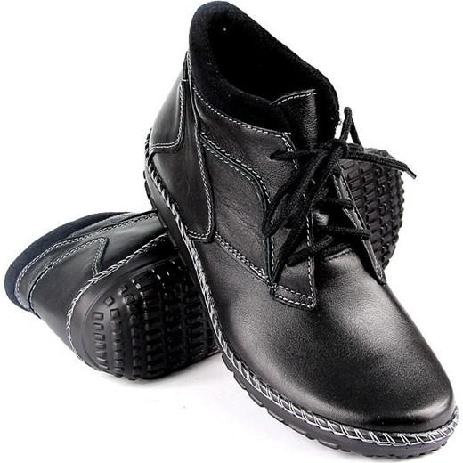 a9c6a4dd1de7 ... HELIOS 715 skórzane botki damskie zimowe komfortowe butyraj-pl czarny  kolorowe