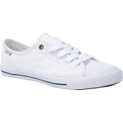 8393ef230 Białe trampki damskie Pepe Jeans bez wzorów na wiosnę casual sznurowane