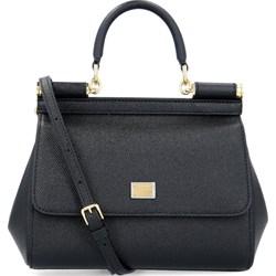 d123f53eed021 Dolce & Gabbana listonoszka czarna skórzana bez dodatków