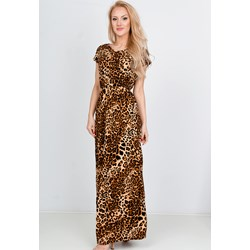 5f616b05bd Sukienka Zoio prosta maxi z okrągłym dekoltem