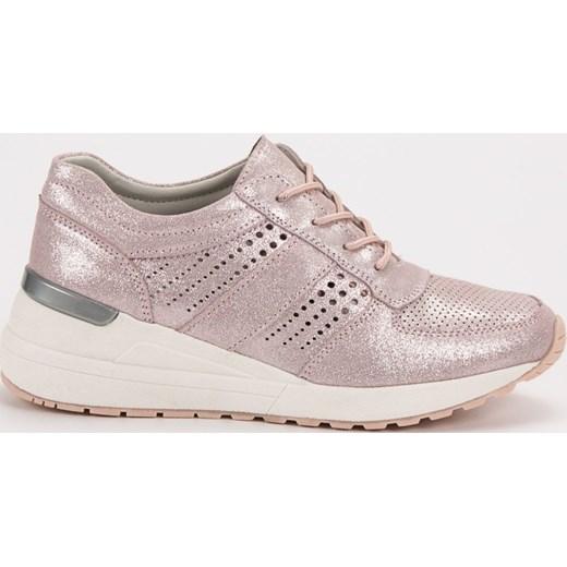 d43a0a52 Sneakersy damskie CzasNaButy sznurowane różowe bez wzorów w Domodi