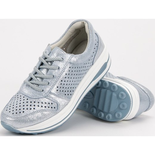 4577a977 ... sznurowane · Sneakersy damskie CzasNaButy ze skóry białe