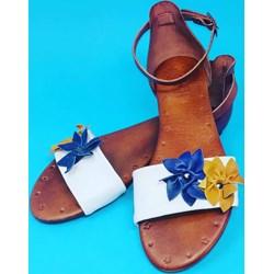 9852feb92ac74 Sandały damskie Porronet w kwiaty z klamrą wiosenne
