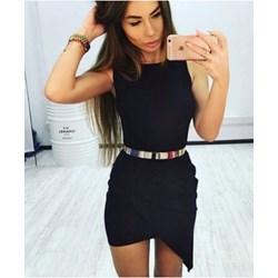4b9aa78584 Sukienka Pakuten czarna elegancka bez wzorów