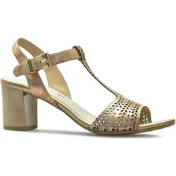 e42230e4 Sandały damskie Caprice z klamrą casualowe na średnim obcasie na bez wzorów