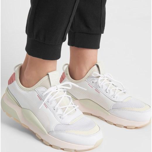 Buty sportowe damskie Puma dla biegaczy białe gładkie płaskie sznurowane