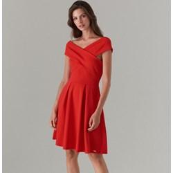 28f8ba2ff9 Mohito sukienka czerwona na randkę elegancka trapezowa