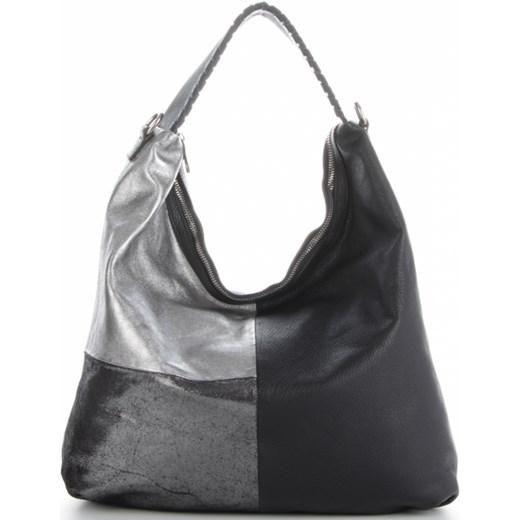 86e340dbe5b35 Włoskie Torebki Skórzane na każdą okazję w rozmiarze XL Shopper w modne  wzory Czarny (kolory ...