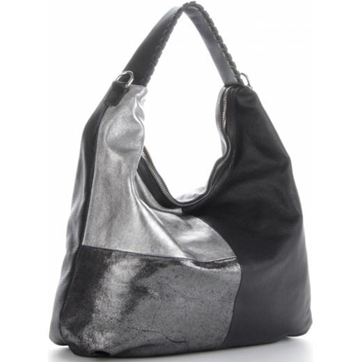 4f7f56f55e505 ... Włoskie Torebki Skórzane na każdą okazję w rozmiarze XL Shopper w modne  wzory Czarny (kolory ...