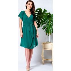 1eba5f4491 Zielona sukienka Kokito midi bez wzorów