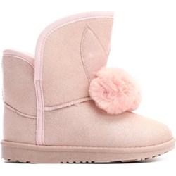 57ec20dd24d60 Buty zimowe dziecięce różowe Born2be bez wzorów emu