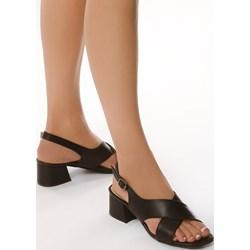 ef3b02d546 Born2be sandały damskie czarne ze skóry ekologicznej